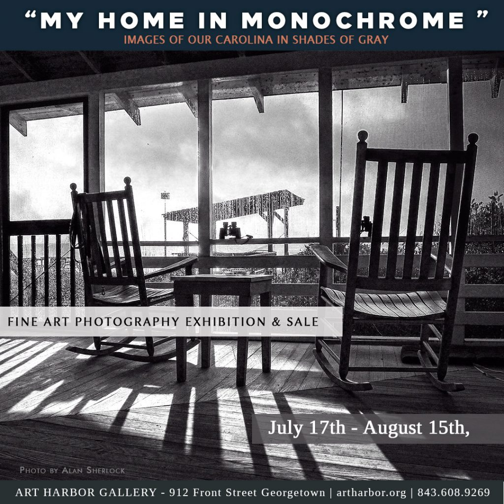"""Exhibition: """"My Home in Monochrome """" July 17 – August 15th, 2021."""