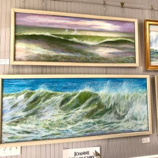 "Looking for that special piece for a foyer or over the mantel? Here's just a sample of some of what's on display right now. All of these are 30"", 40"" or larger including work by Tommy Beaver, Sherry Strickland Martin, Loraine Dauphin, & Joanne Willoughby. Stop in any day except Tuesday and browse! Photos can't capture what you can see with your own eyes. #largepaintings #art #artharborgallery #galleryart #lowcountryart"