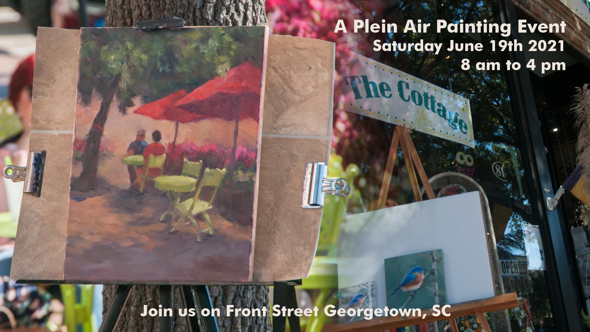 plein-air painting event -Georgetown, SC